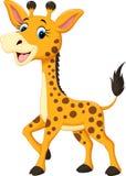 Fumetto sveglio della giraffa illustrazione di stock