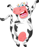 Fumetto sveglio della mucca Immagine Stock