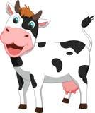 Fumetto sveglio della mucca Immagini Stock Libere da Diritti