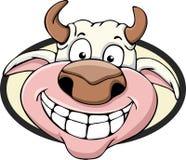 Fumetto sveglio della mucca Fotografie Stock