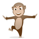 Fumetto sveglio della scimmia Fotografie Stock Libere da Diritti