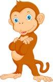 Fumetto sveglio della scimmia Immagine Stock Libera da Diritti