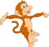 Fumetto sveglio della scimmia Immagine Stock
