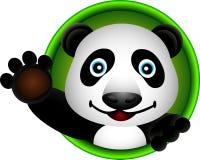 Fumetto sveglio della testa del panda Fotografia Stock