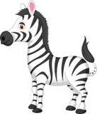 Fumetto sveglio della zebra Fotografie Stock Libere da Diritti