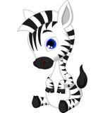Fumetto sveglio della zebra Immagine Stock