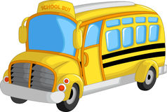Fumetto sveglio dello scuolabus illustrazione di stock