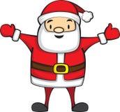 Fumetto sveglio Santa Claus per il Natale Fotografia Stock Libera da Diritti