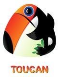 Fumetto sveglio Toucan Immagine Stock Libera da Diritti