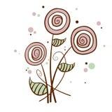 Fumetto, tiraggio della mano, fiore illustrazione vettoriale
