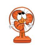 Fumetto triste del ventilatore da tavolo Fotografia Stock