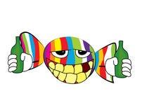 Fumetto ubriaco di Candy Immagini Stock Libere da Diritti