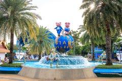 Fumetto variopinto sveglio della mascotte di Siam Park City o di SuanSiam, Bangkok, Tailandia fotografie stock libere da diritti