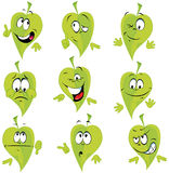Fumetto verde del foglio Immagine Stock