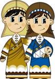 Fumetto vergine Maria, Joseph e bambino Gesù Fotografie Stock