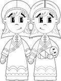 Fumetto vergine Maria, Joseph e bambino Gesù Immagine Stock Libera da Diritti