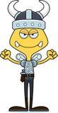 Fumetto Viking Bee arrabbiato Fotografia Stock Libera da Diritti