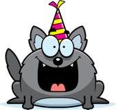 Fumetto Wolf Birthday Party Fotografie Stock Libere da Diritti