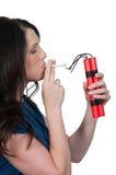 Fumeuse de femme Photo stock