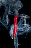 Poivre de piments d'un rouge ardent photo libre de droits