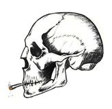 Fumi fino alla morte Fotografie Stock