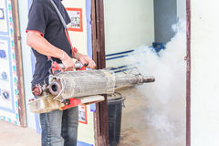 Fumigate mosquito-killing to prevent disease Stock Image