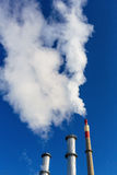 Fuming industrial chimney Royalty Free Stock Photography