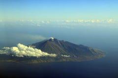 Fuming Vulkaan Stock Afbeelding