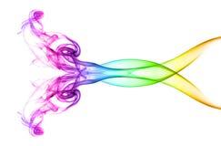 Fumo abstrato colorido imagens de stock