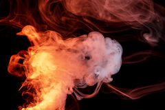 Fumo alaranjado abstrato Weipa imagem de stock