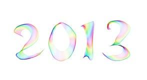 2013 in fumo astratto Immagini Stock