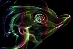 Fumo astratto colorato immagini stock