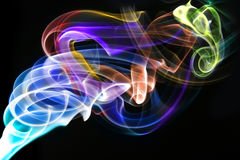 Fumo astratto con i colori del Rainbow immagine stock
