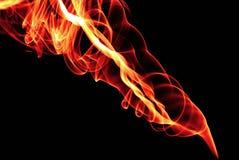 Fumo astratto del fuoco Fotografie Stock