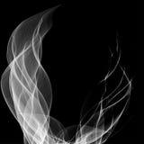 Fumo astratto isolato sul nero Fotografia Stock