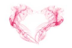 Fumo astratto nella forma di cuore su bianco Immagini Stock Libere da Diritti