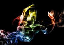 Fumo astratto su fondo scuro fotografia stock libera da diritti