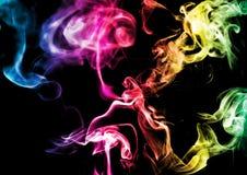 Fumo astratto su fondo scuro fotografie stock