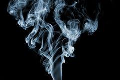 Fumo azul Imagens de Stock Royalty Free