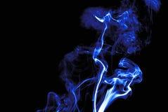 Fumo azul de néon Imagens de Stock