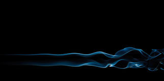 Fumo azul no preto Fotografia de Stock Royalty Free