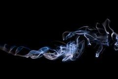 Fumo blu astratto Immagini Stock