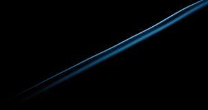 Fumo blu sul nero Fotografia Stock