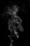 Fumo branco isolado no preto fotografia de stock royalty free