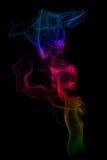 Fumo colorato fotografia stock