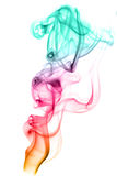 Fumo colorato immagine stock