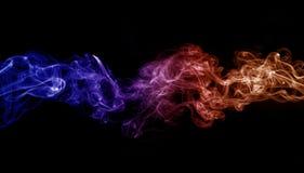 Fumo colorato fotografie stock