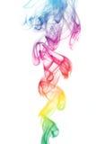 Fumo colorato del Rainbow fotografia stock libera da diritti