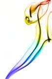 Fumo colorato di immagine su fondo bianco Fotografie Stock Libere da Diritti