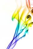 Fumo colorato di immagine su fondo bianco Fotografie Stock